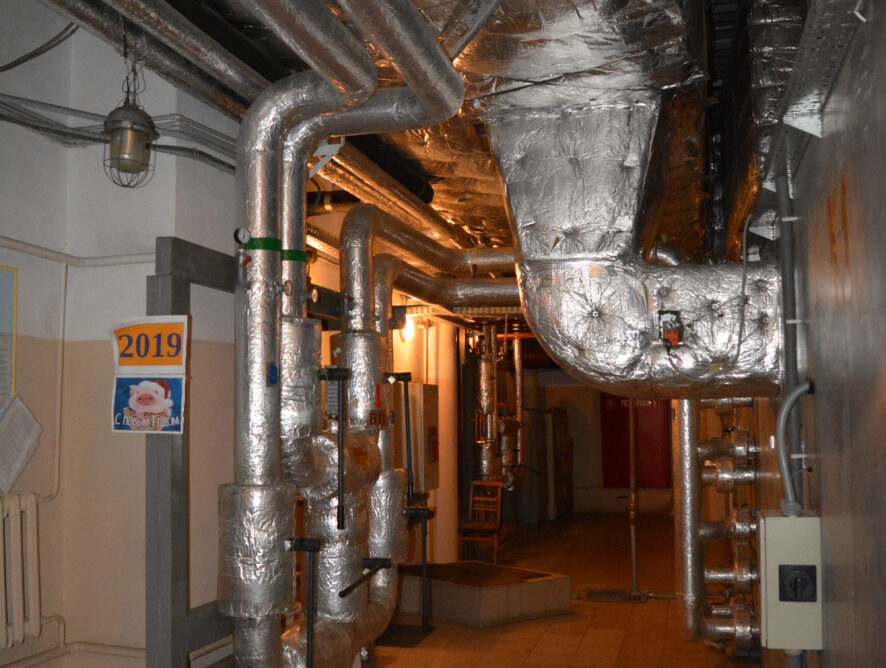 вентиляционные трубы театра