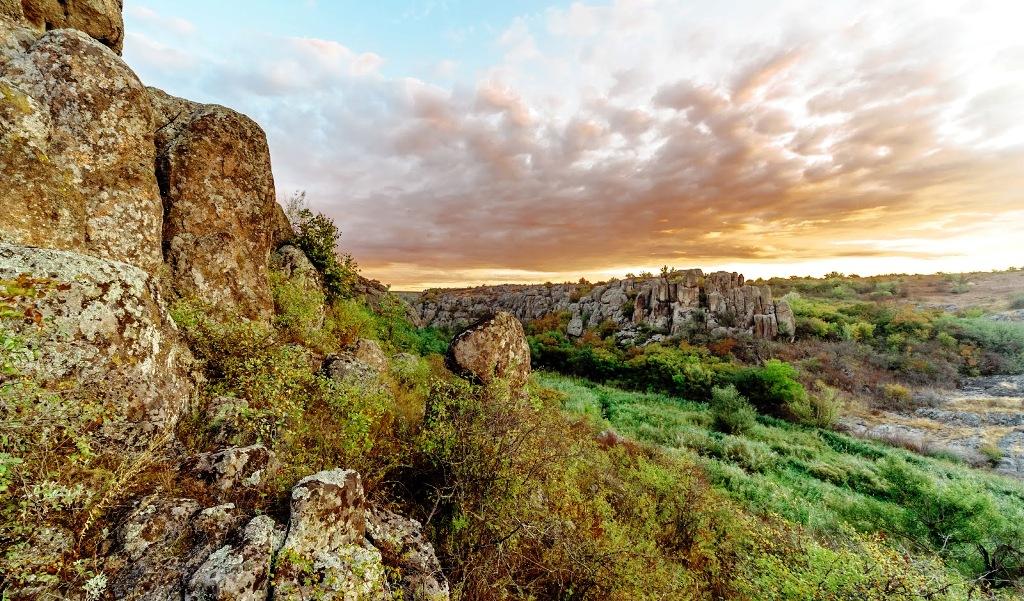 Актовский каньона и Долина дьявола из Одессы