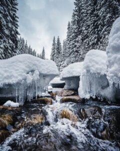 река зимой карпаты